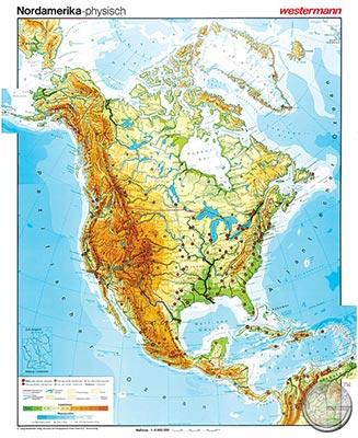 Physische Karte Usa.Nordamerika Physisch 1 8 M Gunstig Bei Geosmile De