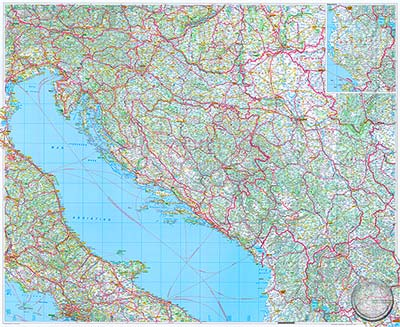 Karte Montenegro Kroatien.Kroatien Bosnien Herzegowina Serbien Und Montenegro