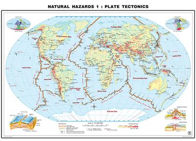 Vulkane Der Erde Karte.Weltkarte Vulkane Laminierte Karte Boden Oder Tischunterlage Für Kids