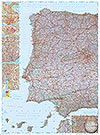 Spanien, Portugal (West) 1:800.000 (Business Map)