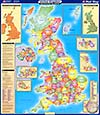 United Kingdom - Administrativ boundaries (Verwaltungskarte)