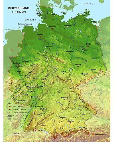 landkarte deutschland satellit Echt 3D Karte Deutschland 1:1500000 | Günstig bei geosmile.de