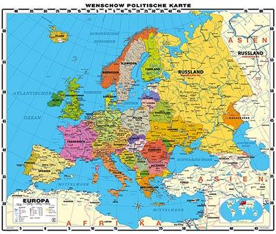 Europa Karte Physisch.Mega Xxl Europa Politisch Online Wandkarten Shop Günstig Bei