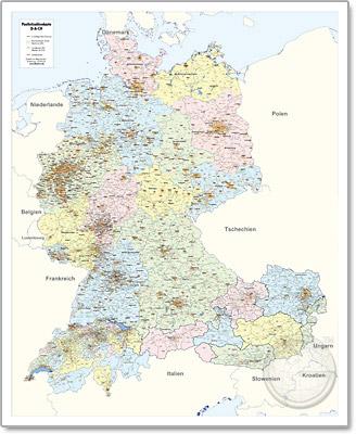 Plz Karte Schweiz.Postleitzahlenkarte Deutschland Osterreich Schweiz Ba2020