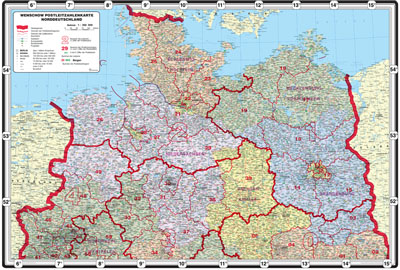 Bundesländer Karte Mit Plz.Xxl Bundesländerkarte Mit Postleitzahlen Norddeutschland