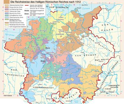 Heiliges Römisches Reich Karte.Die Reichskreise Des Heiligen Römischen Reiches Nach 1512
