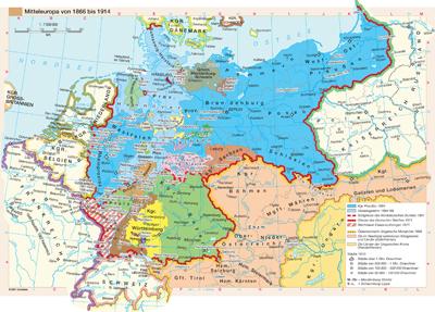 karte deutschland 1866 Mitteleuropa von 1866 bis 1914 | Günstig bei geosmile.de