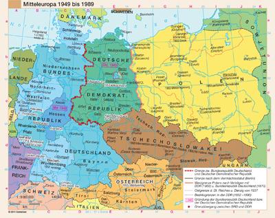 deutschland karte 1989 Mitteleuropa 1949 bis 1989 | Günstig bei geosmile.de