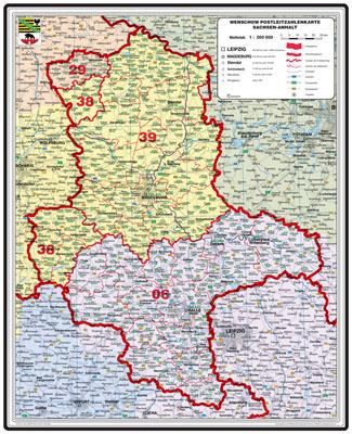Bundesländer Karte Mit Plz.Xxl Bundesländerkarte Sachsen Anhalt Mit Postleitzahlen Leitbereich