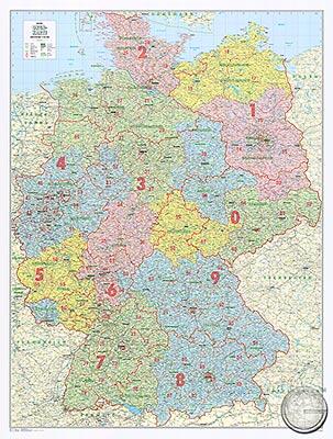 Karte Bundesländer.Bundesländer Karte Mit Postleitzahlen Deutschland Günstig Bei