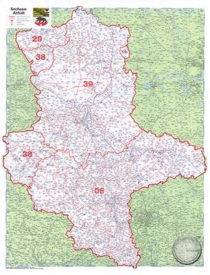 Karte Sachsen Anhalt.Sachsen Anhalt Plz 1 Günstig Bei Geosmile De