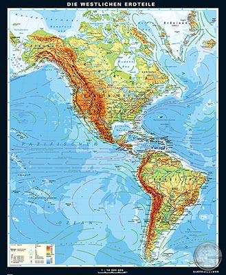 Karte Südamerika Und Nordamerika.Nord Und Südamerika Physisch