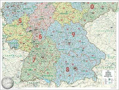 landkarte deutschland süd Bacher Orga Karte Deutschland Süd 1 : 500 000. Poster Karte