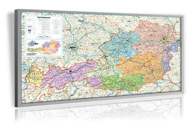 Österreich Organisations- und Postleitkarte