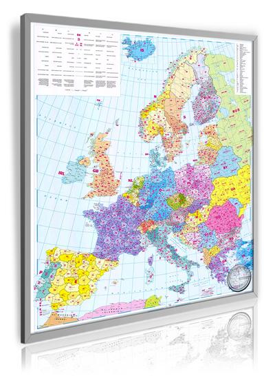 Postleitzahlenkarte Europa