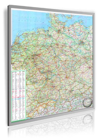 Straßenkarte Deutschland