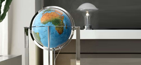 Das ist Bild Design Standglobus Rubrik Globen