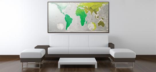 Das ist Bild Design Weltkarte im Rahmen