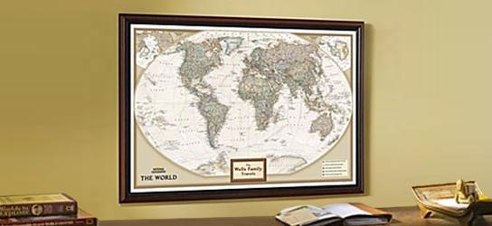 Das ist Bild Weltkarte Antik Rubrik National Geographic