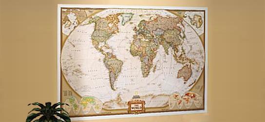 Das ist Bild XXL Weltkarte Classic Antik Rubrik National Geographic