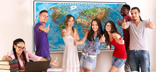 Das ist Bild xL Weltkarte physisch Rubrik Schule