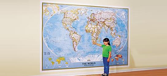 Das ist Bild XXXL Weltkarte Rubrik National Geographic