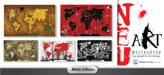 Wenschow ART Weltkarten
