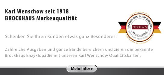 Werbemittel: Karl Wenschow - Brockhaus Markenqualität